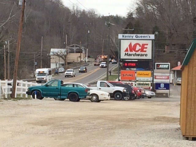 Photo from the scene of the accident