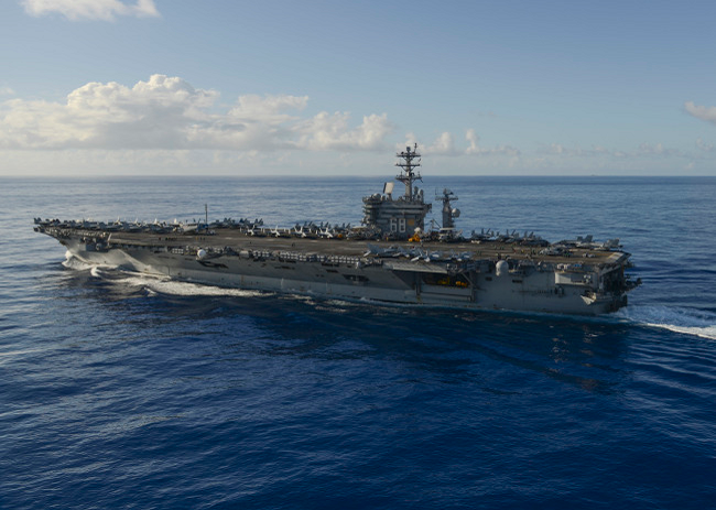 © PACIFIC OCEAN (June 17, 2017) The aircraft carrier USS Nimitz (CVN 68) transits the Pacific Ocean, June 17, 2017. Nimitz is currently in the Pacific Ocean on a regularly scheduled deploymnet to the Western Pacific and Indian Oceans.