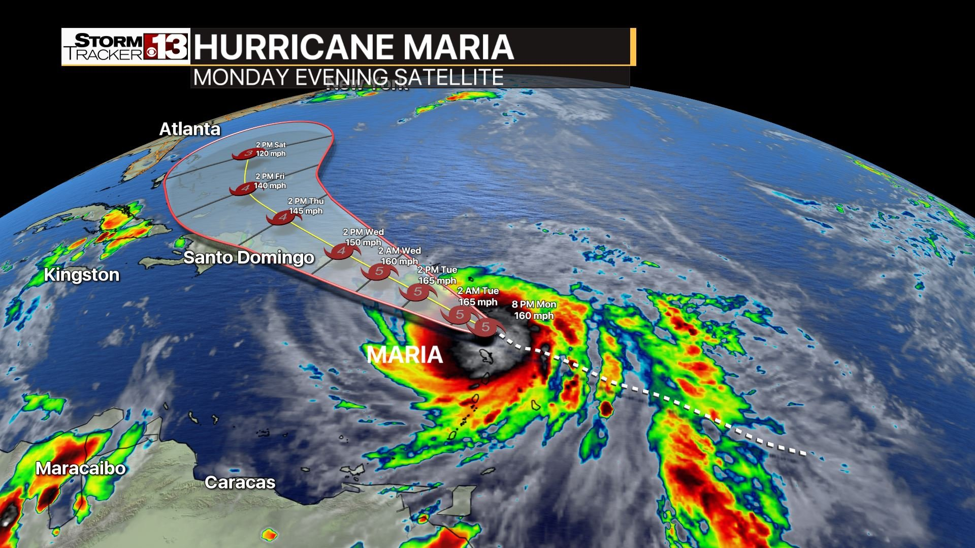 StormTracker 13 is keeping a sharp eye on Maria.