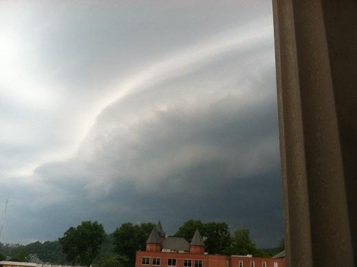 The storm passing through Winfield. David Iversen -- WOWK-TV