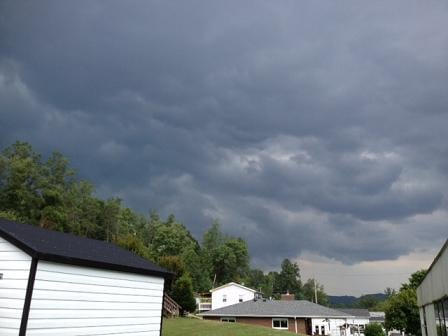 The storm moved through Elkview late this morning. Courtesy of Joni Ames