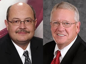 Pictured, from left to right: State Sen. Doug Facemire, State Sen. Art Kirkendoll