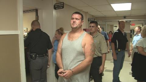 Roy E. Southerlin Jr. outside Cabell County Magistrate Court Friday -- Ben Moore--WOWK-TV