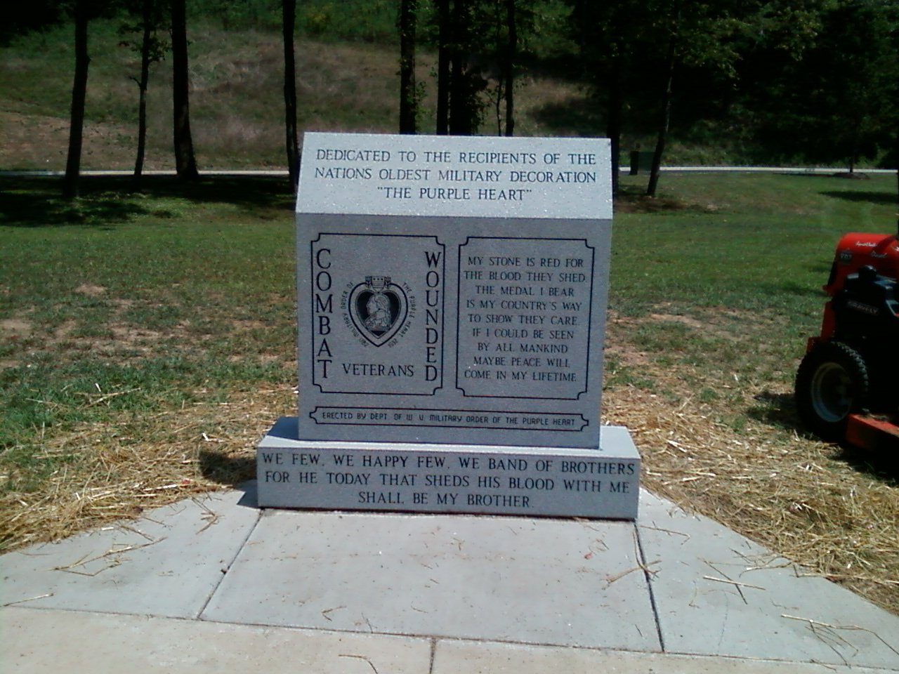 Purple Heart Monument, (WVDVA)