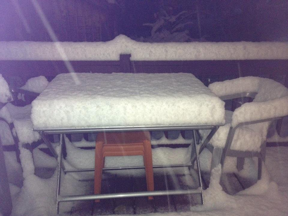 Snow in Athens County, OH from Mark Loudin