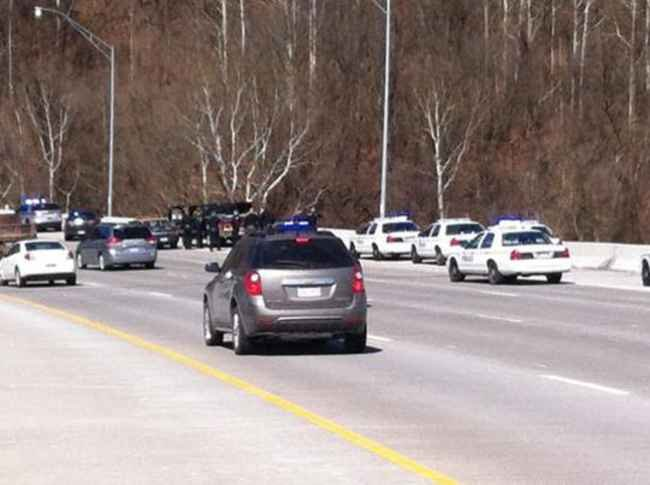Photo by: Kerry McClanahan - Kanawha County police pursuit