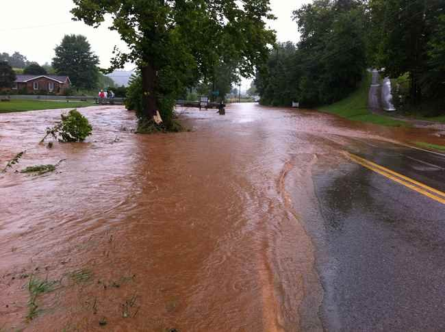 Photo Courtesy: Kerry McClanahan - Route 21 flooding in Jackson County, WV