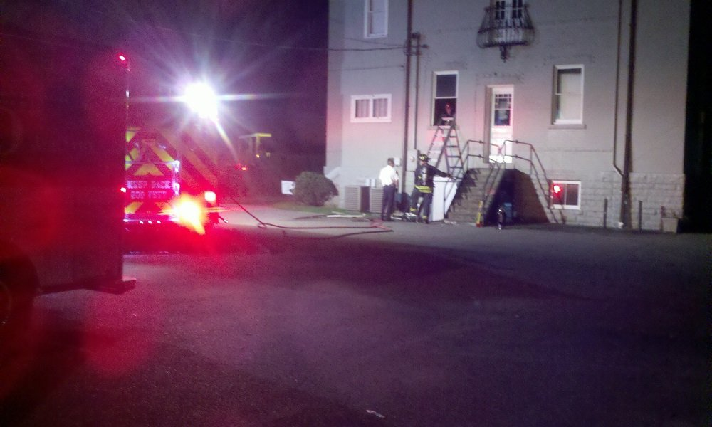 Firefighters quickly put out small fire at a former Charleston, WV business.