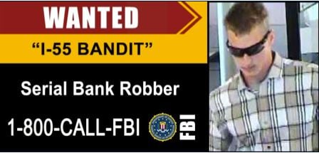 FBI image from a digital billboard put up after a series of bank robberies spanning five states. - Courtesy FBI.gov