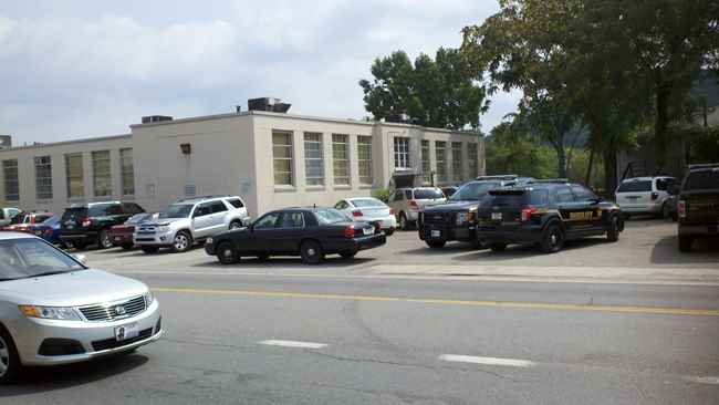 Police gathered at Cross Lanes Middle School after a threat was against the school.