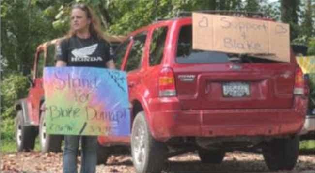 Protestors rally for Blake Dunlap