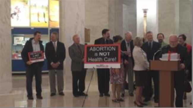 West Virginians for Life press conference on tax payer funding for abortions