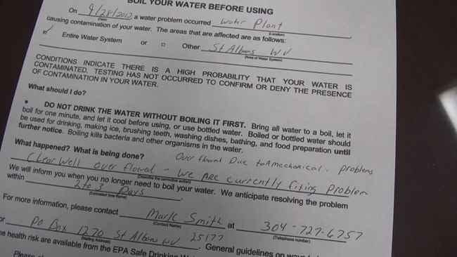 Boil water advisory.