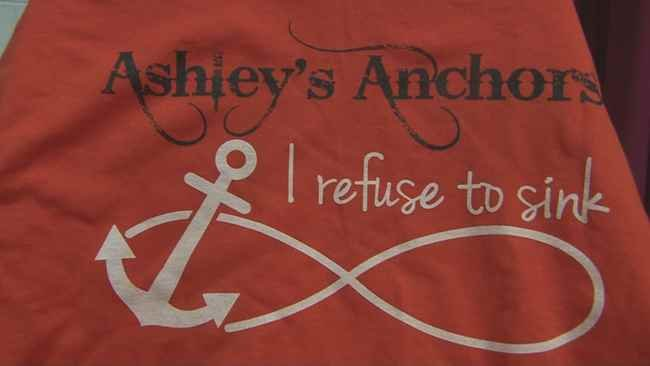 Specialty shirts sold by the Symmes Valley cheerleaders for Ashley Dennison