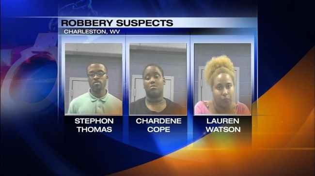 Three suspects accused of beating and robbing a man in Charleston, WV.