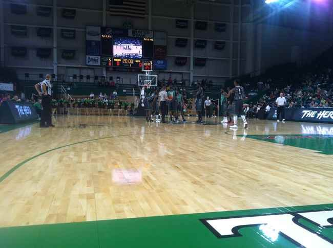tip-off of the Green and White Scrimmage