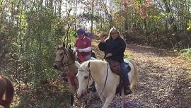 Riders enjoy a day on the trails to raise money for barns.