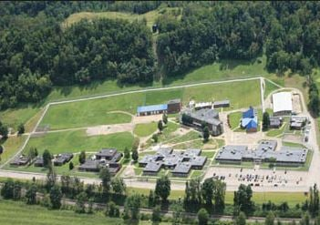 Courtesy of the WV Dept. of Corrections - St. Mary's Correctional Center aerial view.