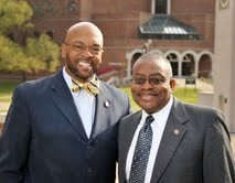Provost Byers (right) pictured with WVSU President Dr. Brian O. Hemphill (left).