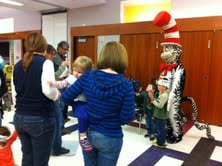 Children 5 years and younger got to meet the popular Dr. Seuss character.