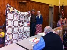 David Saunders from Nitro, WV, and Robert Wilkinson from Summersville, WV, received the quilts.