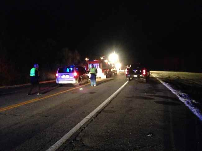 Route 2 fatal accident on Cabell/Mason Co. line.  Photo Courtesy:  Ben Moore, Photojournalist