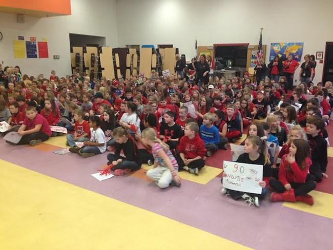 Students at Wayne Elementary