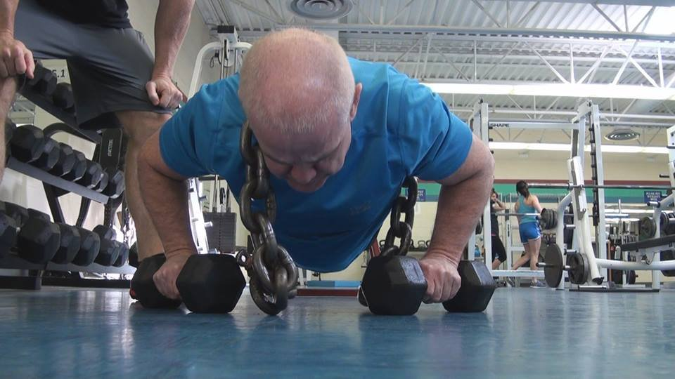 Mike Plante exercises at YMCA in Charleston, WV.