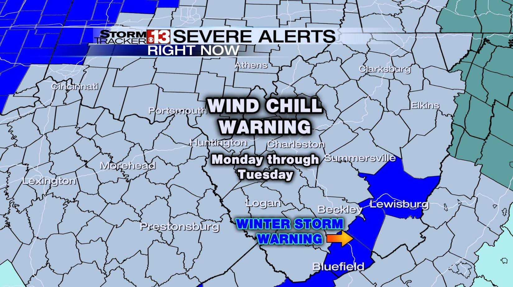 Wind Chill Warning and Winter Storm Warning