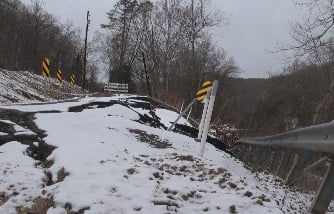 This road collapse is affecting dozens of family who live along Coal River Road.