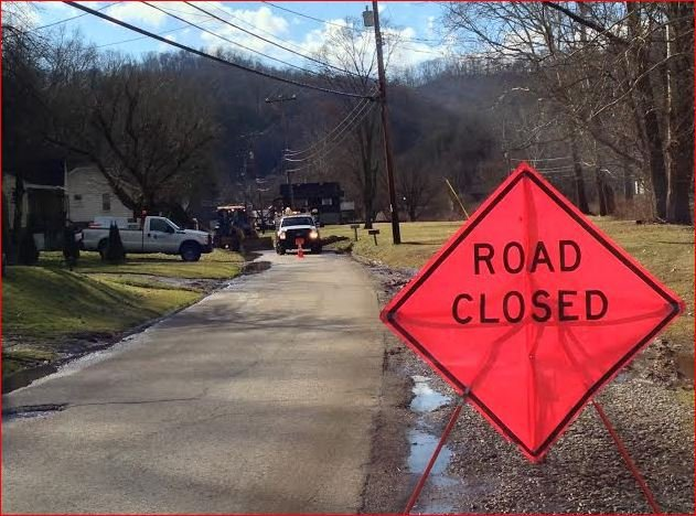 Mountaineer Gas responded to a leak on Two Mile Road on Tuesday, January 14