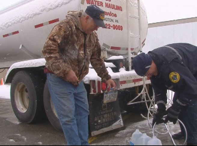 Crews fight against cold temperatures.
