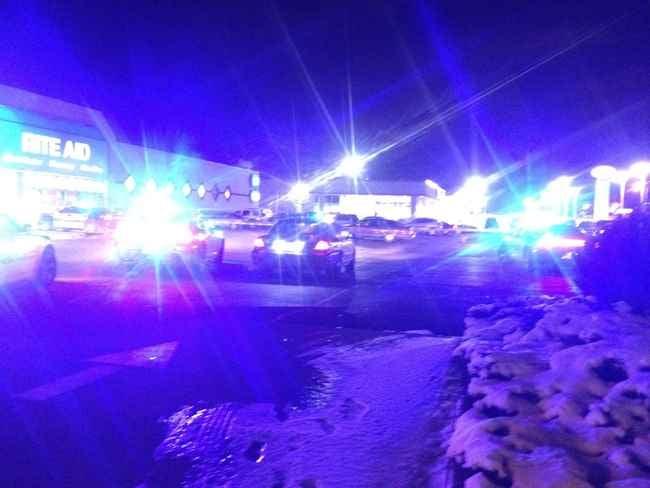 Dispatchers said no one was injured.