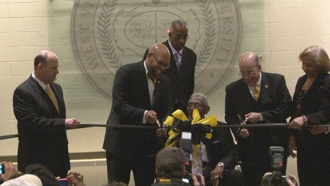 NBA Hall of Famers help open West Virginia State University's  D. Stephen and Diane H. Walker Convocation Center