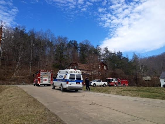 Emergency personnel respond to scene of a fatal fire in Youngs Bottom, WV