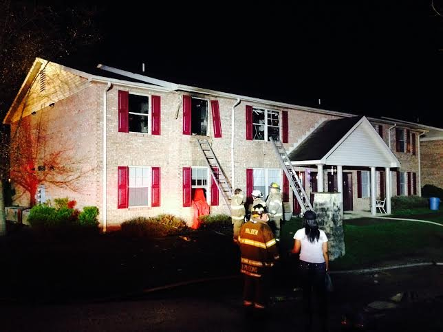 Fire rescue crews respond to an apartment fire in Pinch, WV on Friday evening, March 28.