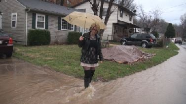 Mary Moffitt tells 13 News she plans to move from her home on Arlington Blvd. in Huntington because of constant flooding caused by a collapsed sewer line.