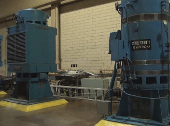 Pumps send 28 million gallons of water out of WV American Water facility.