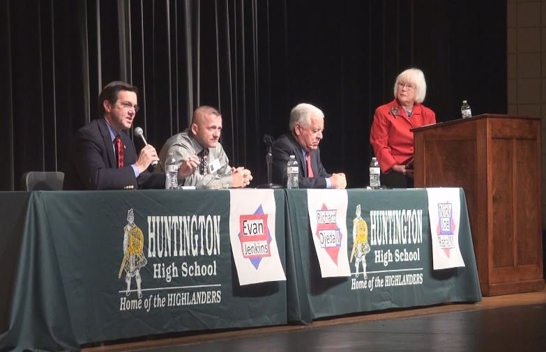 Congressman Nick Rahall, his primary election challenger Richard Ojeda, and Cabell County State Senator Evan Jenkins participated in the debate.
