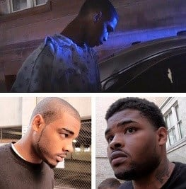 DJ Carter, Michael Harris, and Levi Carter were taken into custody Sunday.