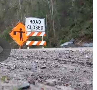 Back on April 4, 2014 the WV Department of Highways closed Madison Creek Road once again due to ongoing problems on the roadway.