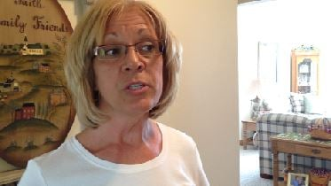 """""""We had everything locked. We had the alarm system on,"""" says Kathy Dennin about the break-in at her home where the suspect spoke to the alarm system company who called the home when the break-in was detected."""