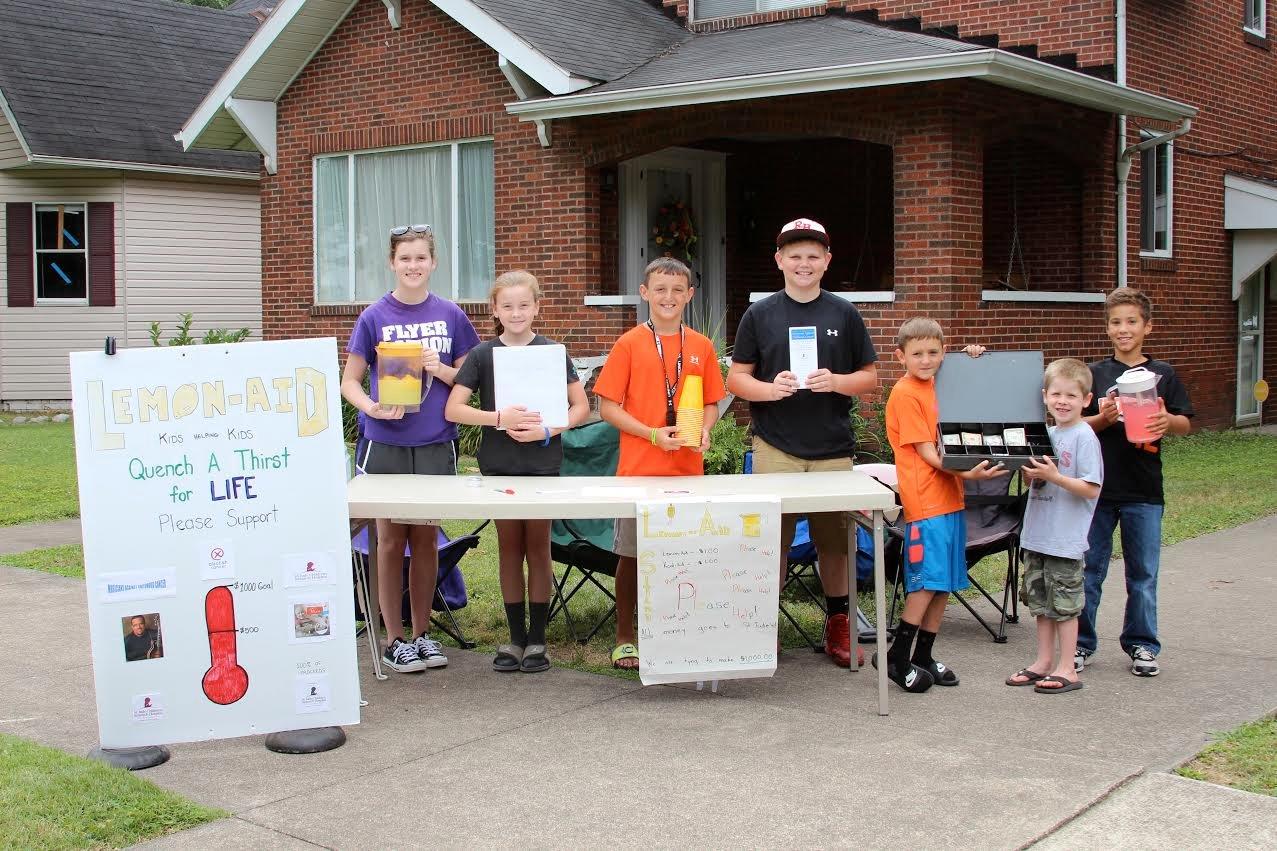 Kids raising money with lemonade stand Summer 2014