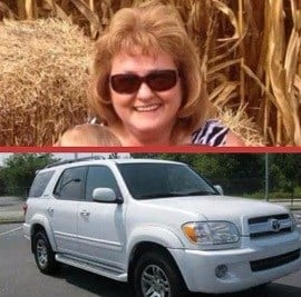 Top: Kim Little, Bottom: Vehicle she was last seen driving