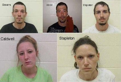 Cody Stevens, Matthew Steele, Timothy Stapleton, Danielle Caldwell, and Dreama Stapleton