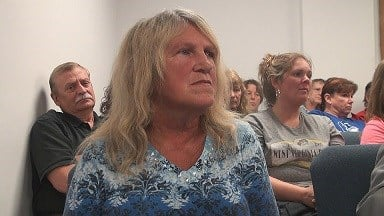 Shirley Rhodes appeared in court Monday