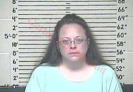 Kim Davis was booked at the Carter County Detention Center September 3.