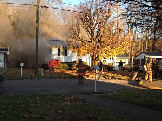 man burned after flames tore through his barboursville wv