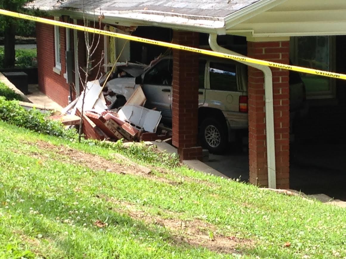 car crashes into home near ritter park in huntington wv wboy